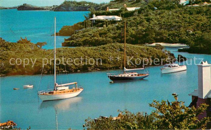 AK / Ansichtskarte Bermuda Panorama Kueste Segelboote Kat. Bermuda