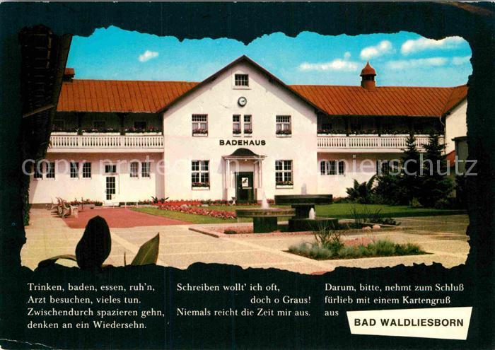 AK / Ansichtskarte Bad Waldliesborn Badehaus Kat. Lippstadt