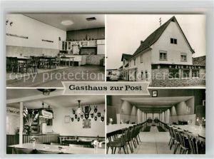 AK / Ansichtskarte Rodau Bergstrasse Gasthaus zur Post Speisesaal Kat. Zwingenberg