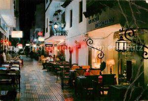AK / Ansichtskarte Torremolinos Calle del Cauce de noche Kat. Malaga Costa del Sol