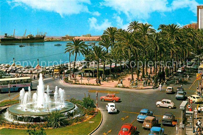 AK / Ansichtskarte Alicante Fuente monumental y Explanada de Espana Kat. Alicante