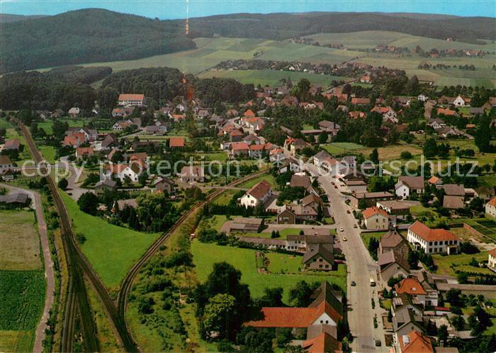 Ak Ansichtskarte Bad Holzhausen Luebbecke Fliegeraufnahme