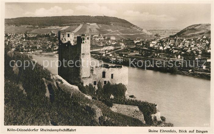 AK / Ansichtskarte Bingen Rhein Ruine Ehrenfels Kat. Bingen am Rhein 0