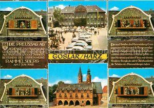 AK / Ansichtskarte Goslar Marktplatz Glockenspiel  Kat. Goslar
