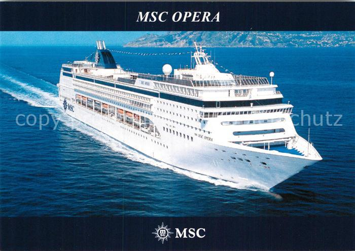 AK / Ansichtskarte Schiffe Ships Navires MSC Opera