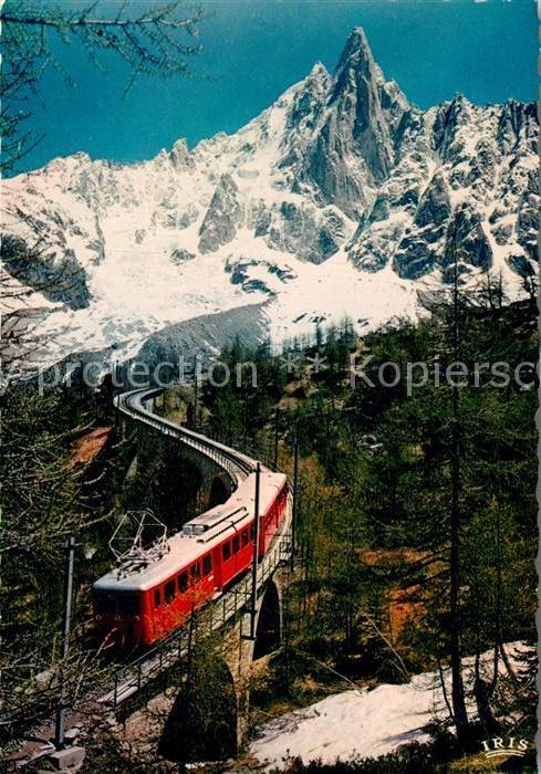 AK / Ansichtskarte Eisenbahn Chemin de Fer Montenvers Aiguille du Dru  Kat. Eisenbahn