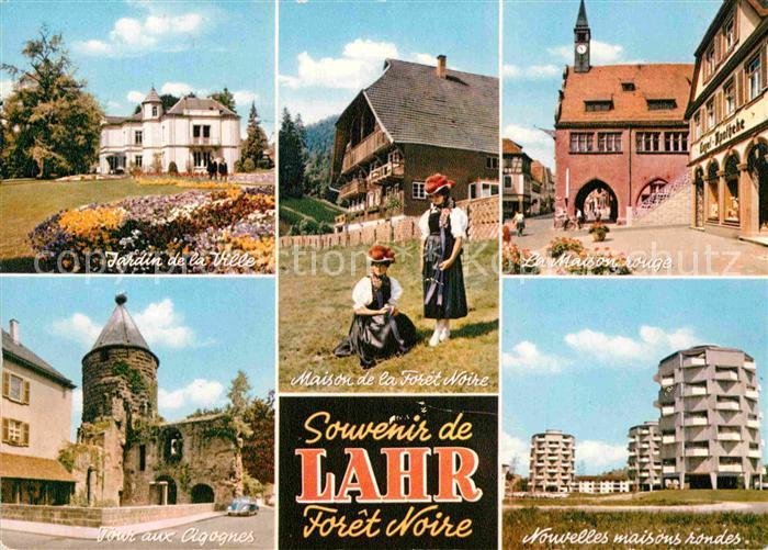 ak ansichtskarte lahr schwarzwald jardin de la ville tour aux cigognes maison de la toret. Black Bedroom Furniture Sets. Home Design Ideas