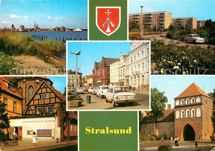 AK / Ansichtskarte Stralsund Mecklenburg Vorpommern Leninplatz Friedrich Woll Strasse Kulturhistorisches Museum Kniepertor Kat. Stralsund
