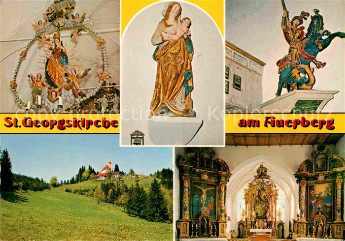 AK / Ansichtskarte Auerberg Weilheim Sankt Georgskirche Madonna von Joerg Lederer Rosenkranz Madonna Kat. Bernbeuren
