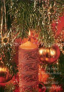 AK / Ansichtskarte Weihnachten Neujahr Kerze  Kat. Greetings