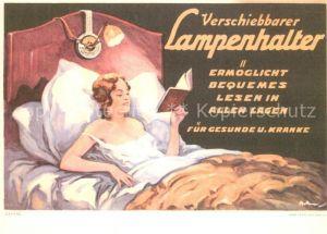 AK / Ansichtskarte Werbung Reklame Lampenhalter  Kat. Werbung