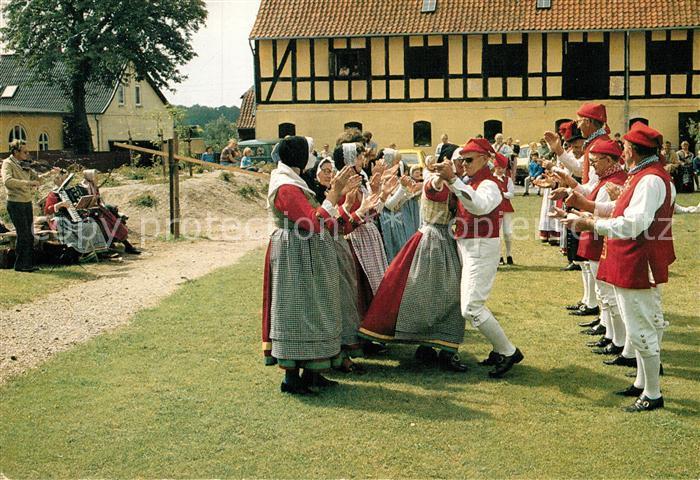 AK / Ansichtskarte Tanz Taenzer Gamle Danses Vaern Pakhuset