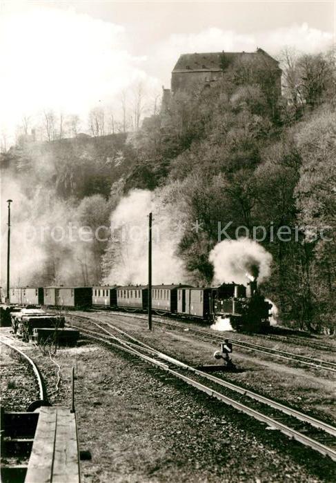 AK / Ansichtskarte Lokomotive Schmalspurbahn Wolkenstein Joehstadt  Kat. Eisenbahn