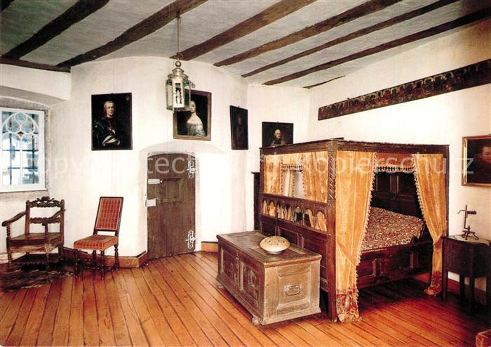 AK / Ansichtskarte Mayen Schloss Buerresheim Schlafzimmer im ...