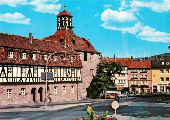 AK / Ansichtskarte Eschwege Blick zum Schloss Fachwerkhaus Kat. Eschwege