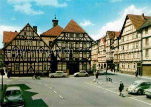 AK / Ansichtskarte Eschwege Partie am Rathaus Fachwerkhaeuser Kat. Eschwege