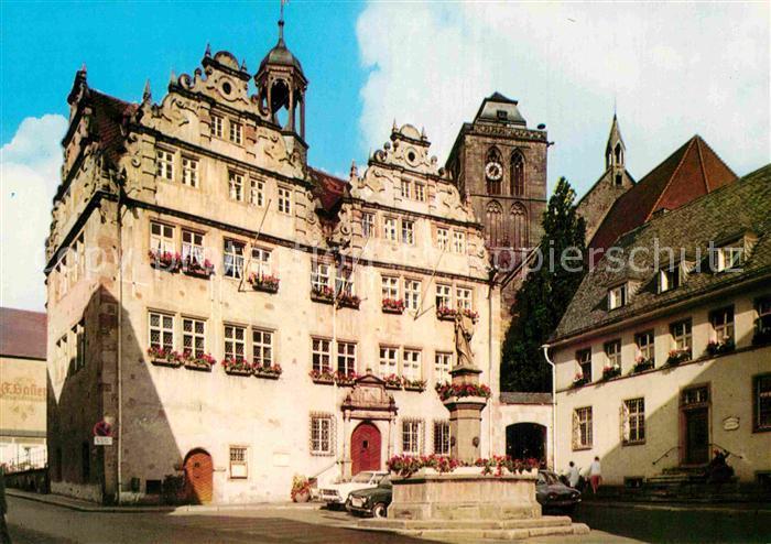AK / Ansichtskarte Bad Hersfeld Rathaus Brunnen Kat. Bad Hersfeld
