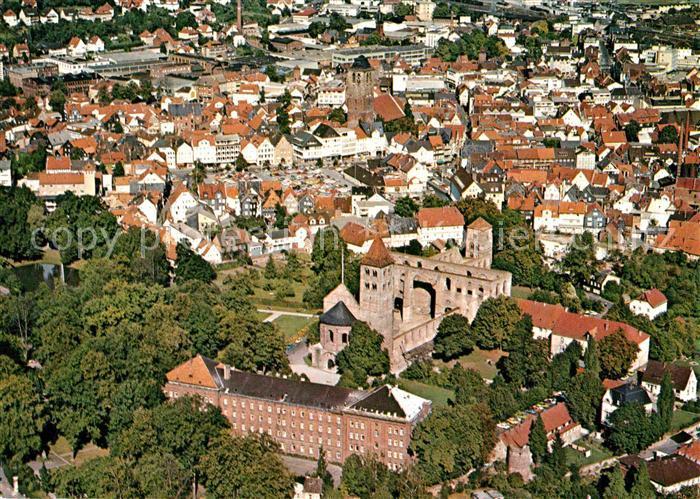 AK / Ansichtskarte Bad Hersfeld Stiftsruine Stadtkirche Fliegeraufnahme Kat. Bad Hersfeld
