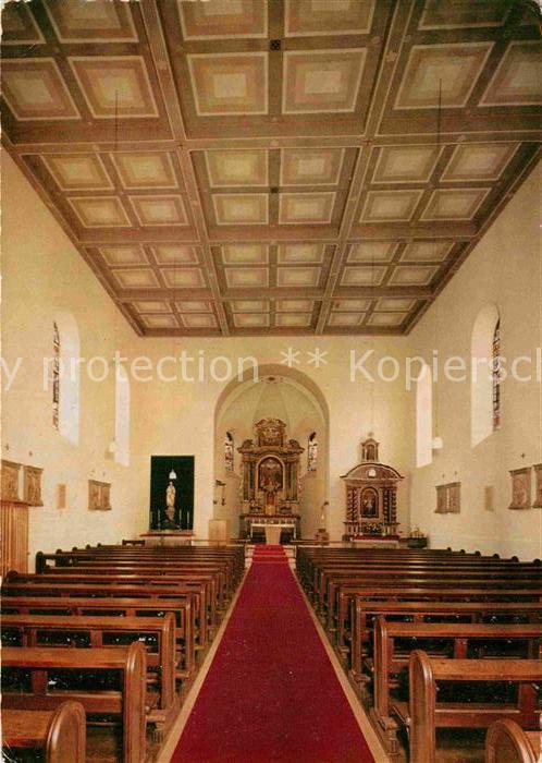 AK / Ansichtskarte Alken Koblenz Kath Pfarrkirche Innenansicht Kat. Alken