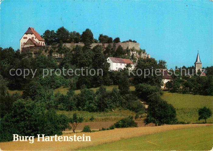AK / Ansichtskarte Hartenstein Mittelfranken Burg Hartenstein Kirche Kat. Hartenstein