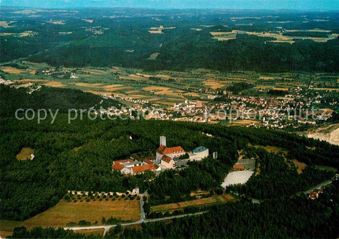 AK / Ansichtskarte Ebermannstadt Fliegeraufnahme mit Burg Feuerstein Kat. Ebermannstadt