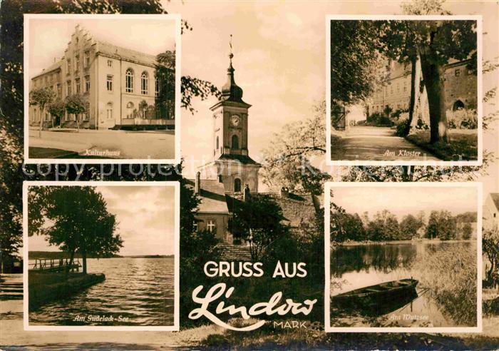 AK / Ansichtskarte Lindow Mark Kulturhaus Kloster Am Gudelack See Am Wutzsee Kat. Lindow Mark