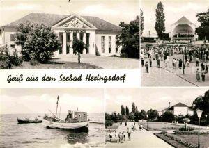 AK / Ansichtskarte Heringsdorf Ostseebad Usedom Kurhaus Kurkonzert Fischer Promenade Kat. Heringsdorf