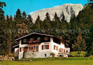 AK / Ansichtskarte Koenigssee Haus Bergfrieden