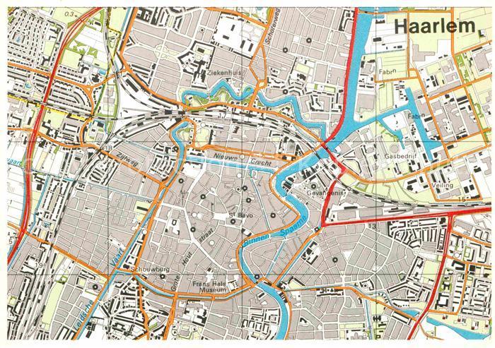 AK / Ansichtskarte Haarlem Topografische Karte Kat. Haarlem