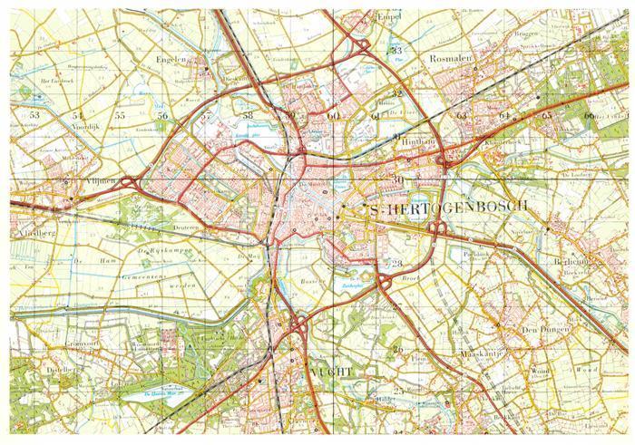 AK / Ansichtskarte Hertogenbosch Topografische Karte