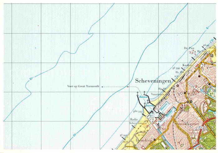AK / Ansichtskarte Scheveningen Topografische Karte Kat. Scheveningen