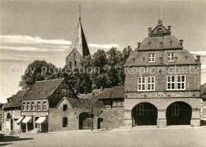 AK / Ansichtskarte Gadebusch Markt mit Rathaus und Kirche Kat. Gadebusch