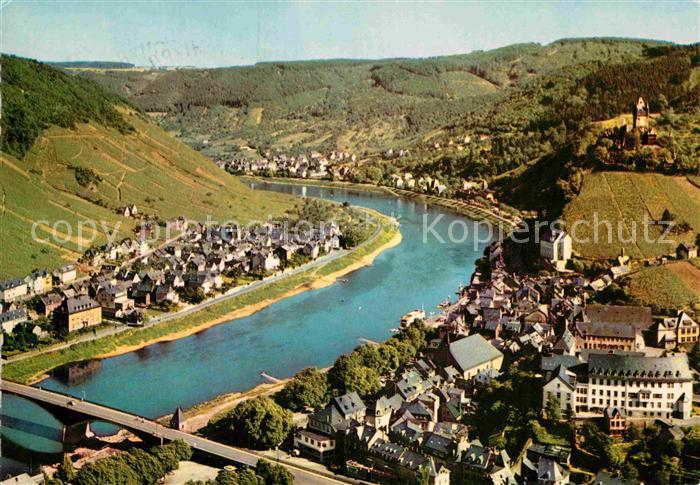 AK / Ansichtskarte Cochem Mosel Blick vom Pinnerkreuz Kat. Cochem