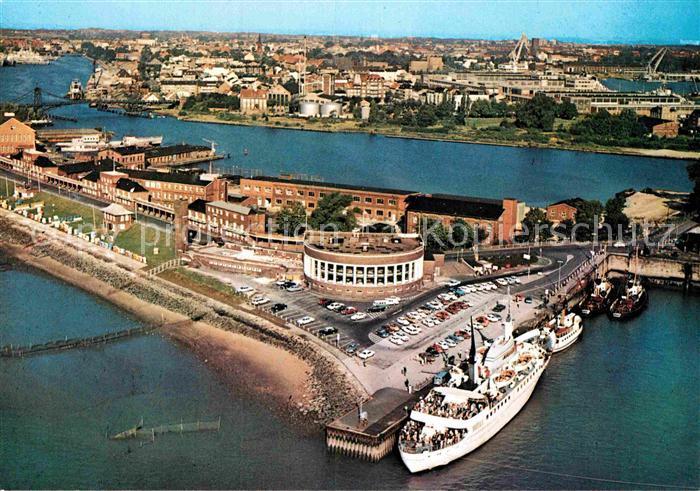 AK / Ansichtskarte Wilhelmshaven Fliegeraufnahme Suedstrand Strandhalle MS Wilhelmshaven Kat. Wilhelmshaven