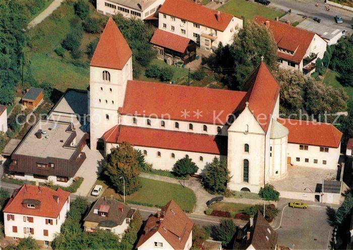 AK / Ansichtskarte Oberesslingen Fliegeraufnahme Sankt Albertus Magnus Kat. Esslingen am Neckar