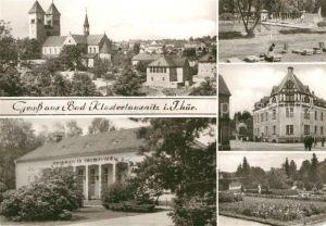 AK / Ansichtskarte Bad Klosterlausnitz Klosterkirche Sanatorium Dr. Friedrich Wolf Schwimmbad Kurpark  Kat. Bad Klosterlausnitz
