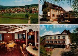 AK / Ansichtskarte Krumbach Odenwald Gasthof Pension zum Engel Kat. Fuerth