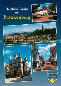 AK / Ansichtskarte Frankenberg Eder Altstadt Kirche Fachwerkhaeuser Rathaus Kat. Frankenberg (Eder)