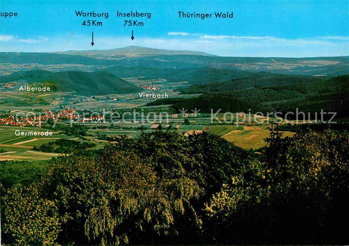 AK / Ansichtskarte Germerode Panorama Hoher Meissner Ausflugsort Fernsicht Thueringer Wald Kat. Meissner