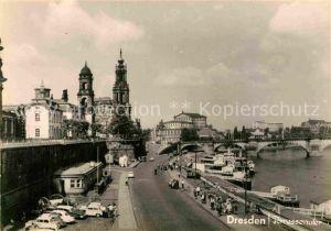 AK / Ansichtskarte Dresden Terrassenufer Kat. Dresden Elbe