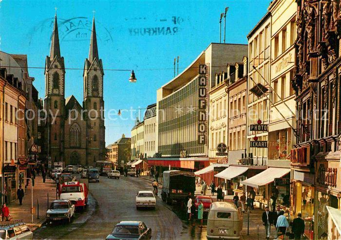 ak ansichtskarte hof saale marienkirche altstadt kat hof nr df14570 oldthing. Black Bedroom Furniture Sets. Home Design Ideas