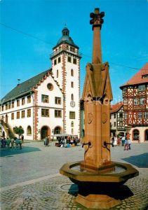 AK / Ansichtskarte Mosbach Baden Rathaus Marktplatz Kat. Mosbach