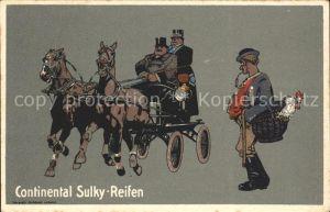 AK / Ansichtskarte Pferdekutschen Werbung Continental Sulky Reifen Hahn Kat. Tiere