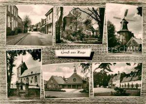 AK / Ansichtskarte Hage Ostfriesland Strassenpartie Muehle Kirchen Kat. Hage