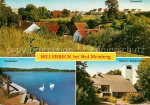 AK / Ansichtskarte Billerbeck Lippe Kirche Gemeindehaus Norderteich Kat. Horn Bad Meinberg