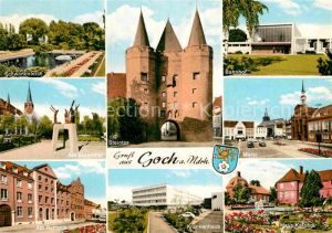 AK / Ansichtskarte Goch Markt Steintor Haus Kalbeck Rathaus  Kat. Goch
