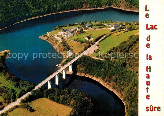 AK / Ansichtskarte Esch sur Sure Vue splendide sur le lac de la Haute Sure et Lultzhausen vue aerienne Kat. Esch sur Sure