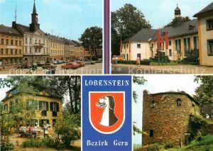 AK / Ansichtskarte Lobenstein Bad Markt Kreiskulturhaus Parkpavillon Alter Turm