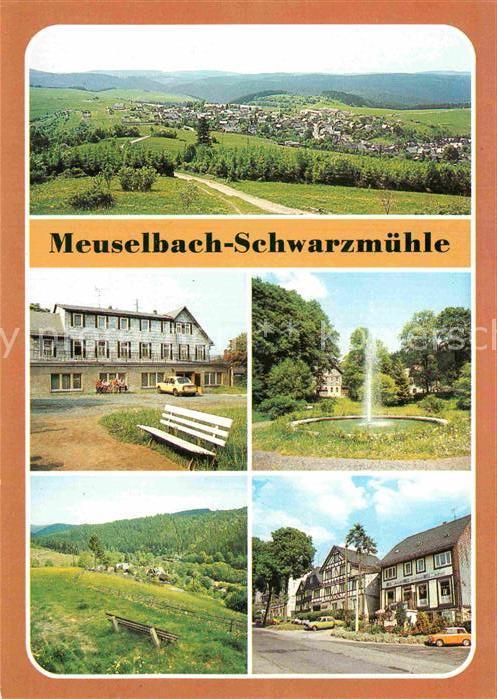 AK / Ansichtskarte Schwarzmuehle Panorama FDGB Erholungsheim Park Kat. Meuselbach Schwarzmuehle