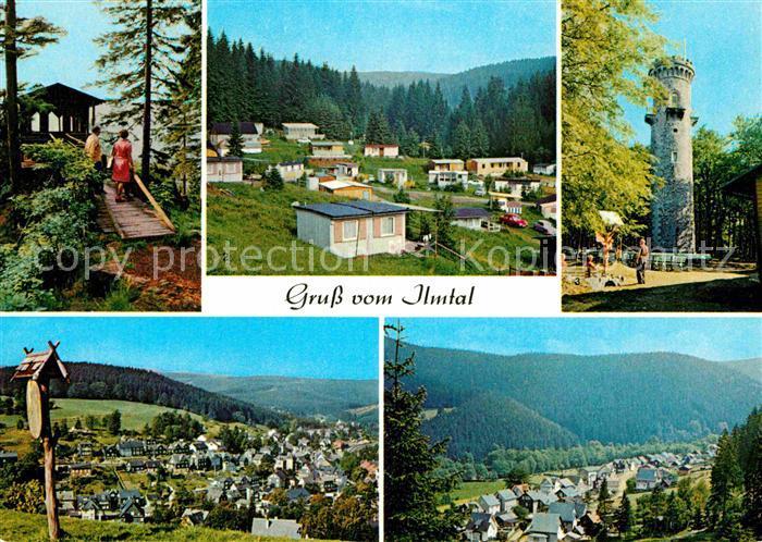 AK / Ansichtskarte Ilmtal Schwalbenstein Campingplatz Meyersgrund Kickelhahnturm Stuetzerbach Manebach Kat. Ilmtal